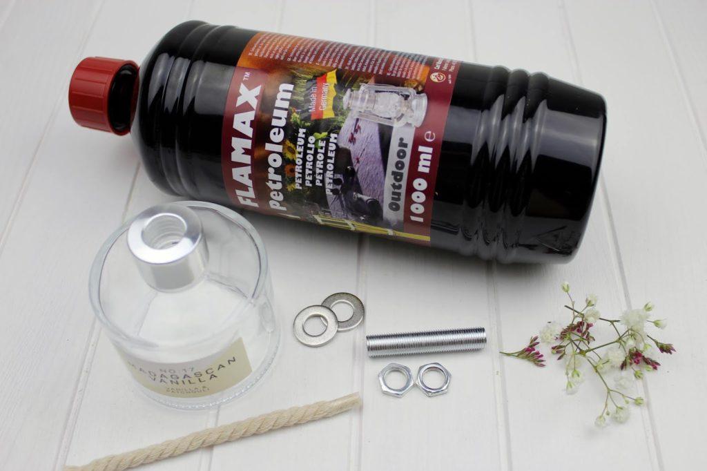DIY - Öllampen ganz einfach selbermachen / bauen - super gemütliche Gartendeko
