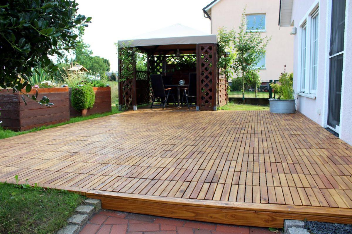 Terrasse, Klickfliesen, Holzfliesen, Garten