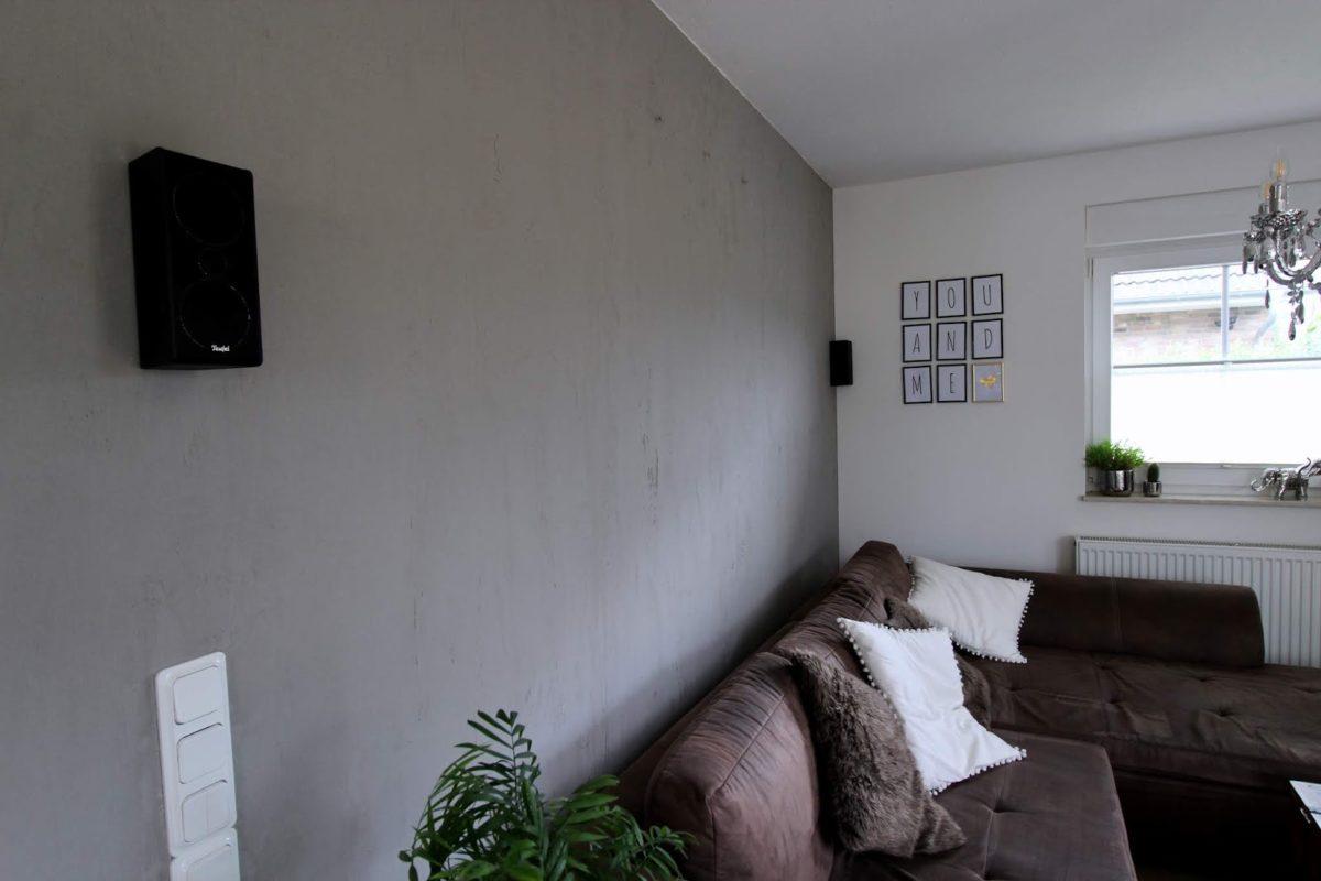 Beton, Beton-Optik, Wand, Wohnzimmer