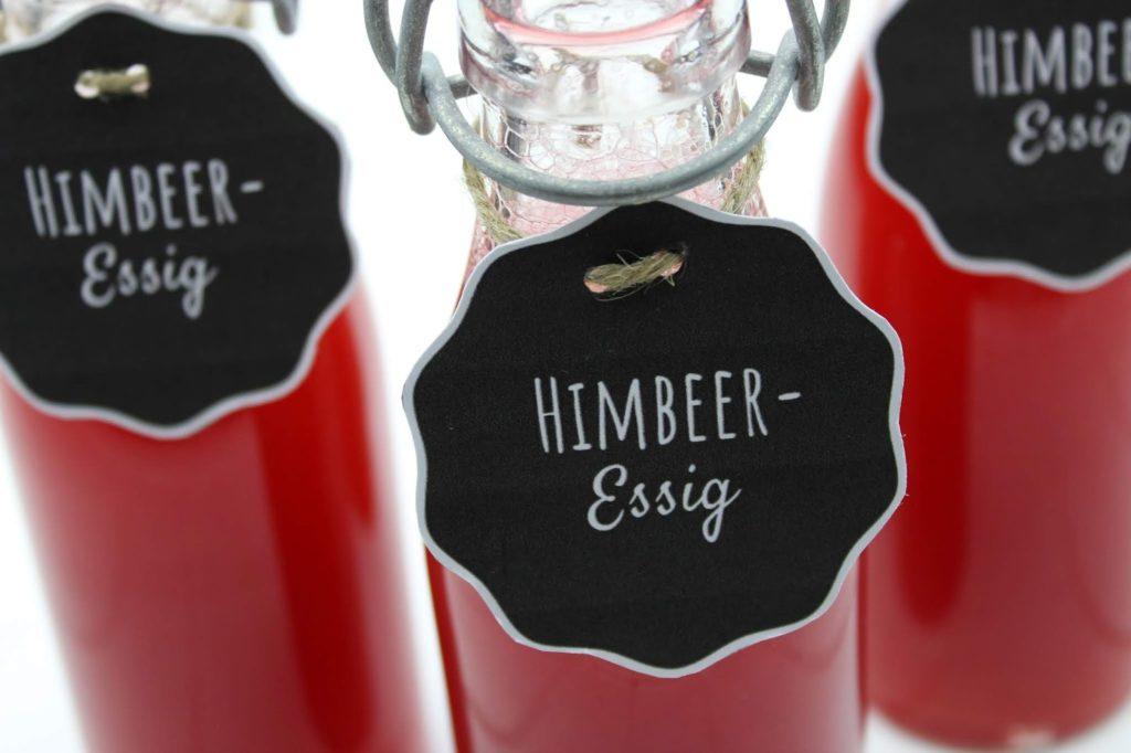 Rezept - Himbeeressig selber machen - so einfach geht es + kostenlose Vorlage