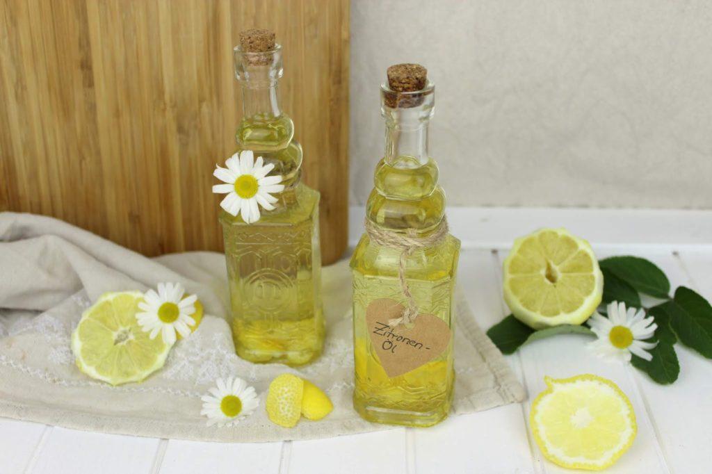 Rezept - Zitronenöl schnell und einfach in weniger als 5 Minuten selber machen