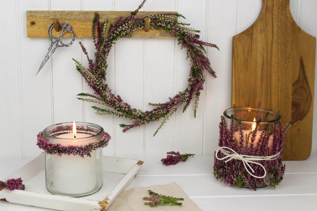 DIY - Blumenkranz aus Heidekraut schnell und einfach selber machen - wunderschöne Herbstdeko