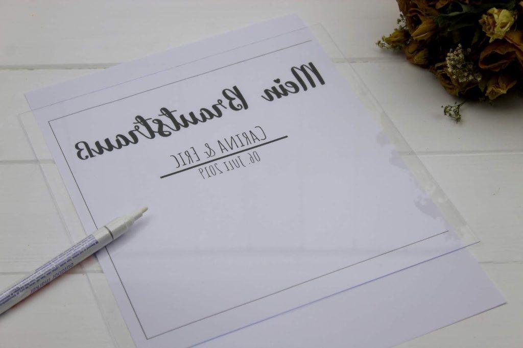 DIY - Brautstrauß im Bilderrahmen selber machen - perfekte Erinnerung nach der Hochzeit