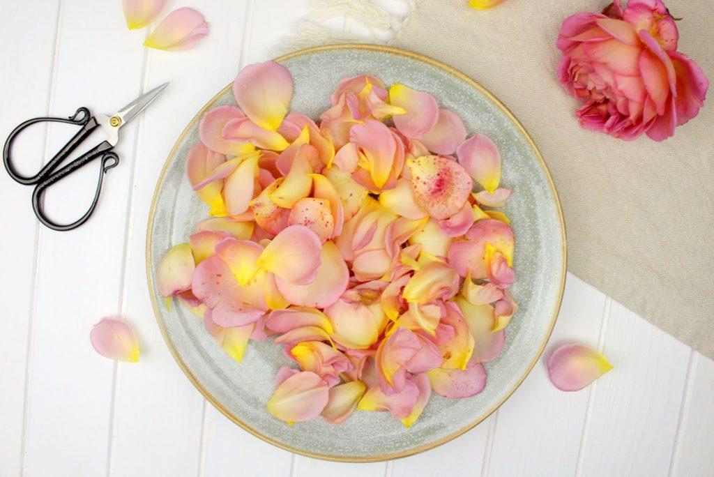 DIY - Rosen-Badesalz selber machen? So einfach geht es! + kostenloses Etikett zum Ausdrucken