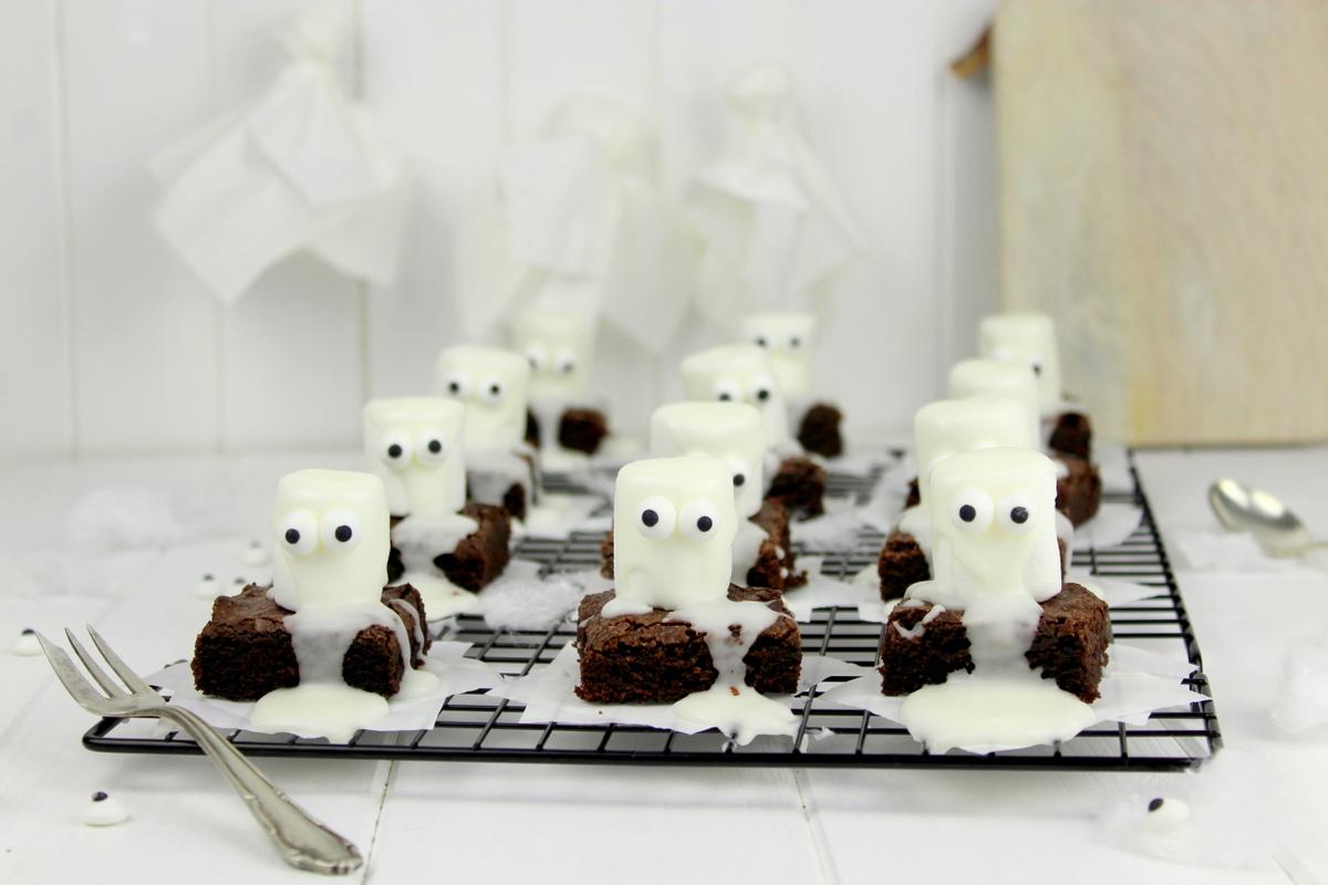 Rezept Halloween Geister-Brownies