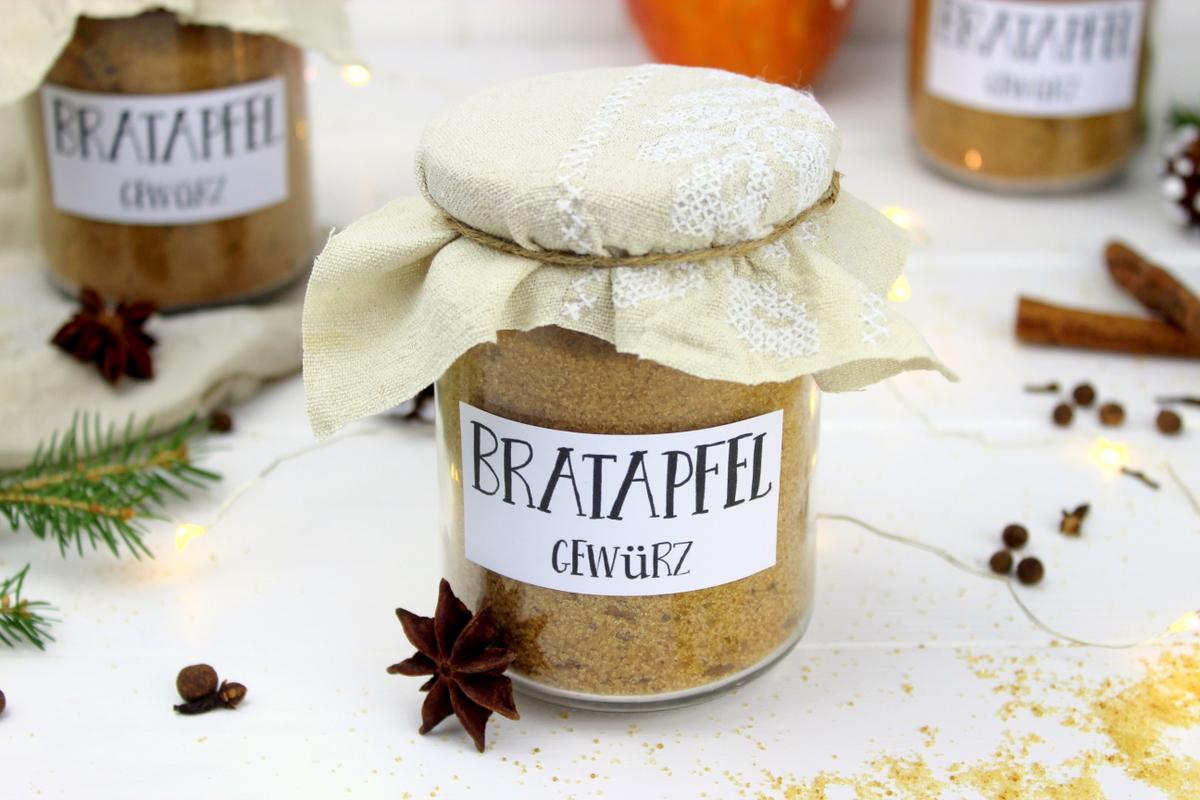 Rezept - Bratapfelgewürz selber machen - perfektes Weihnachtsgeschenk