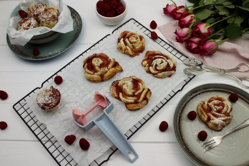 Rezept - Himbeer-Blätterteig-Rosen ganz einfach und schnell selber machen