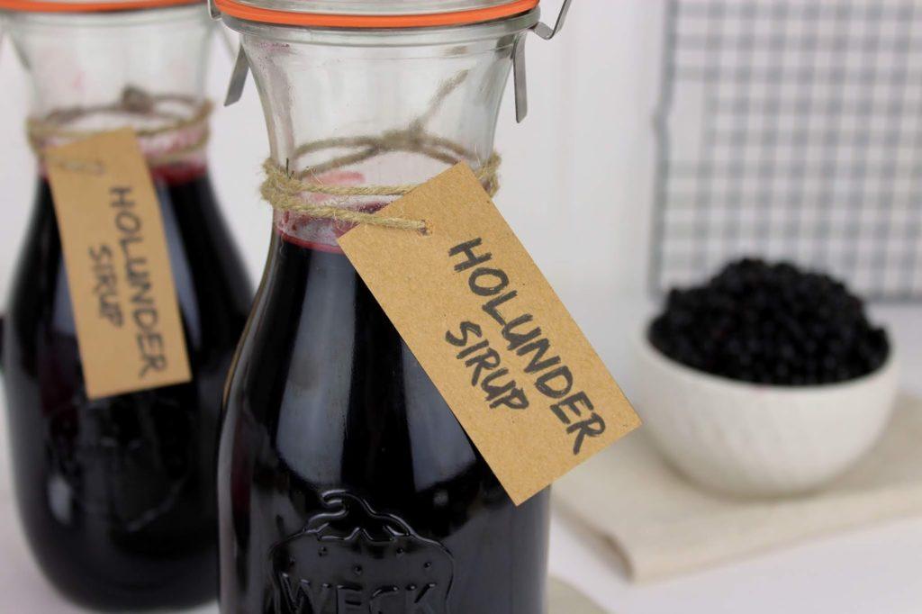Rezept - Holunderbeerensirup schnell und einfach selber machen