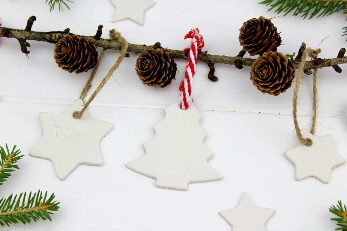 DIY - Christbaumanhänger aus Modelliermasse ganz einfach selber machen
