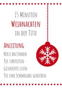 Diy 15 Minuten Weihnachten In Der Tute Geschenkidee