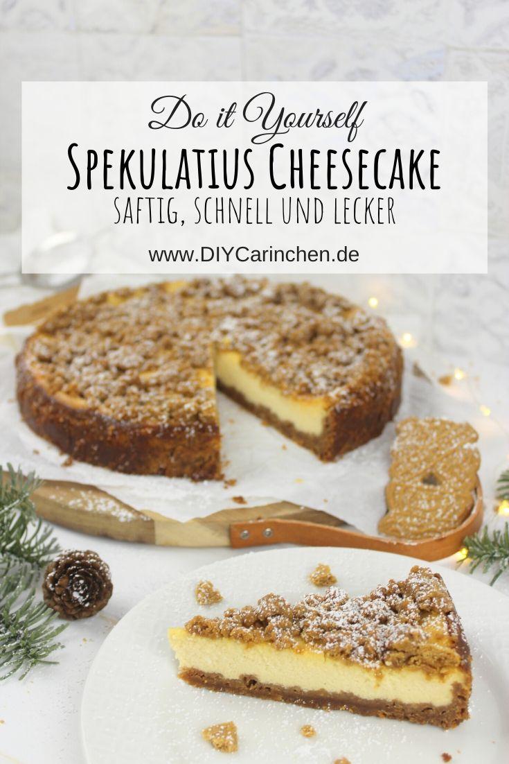weihnachtlicher Spekulatius Cheesecake / Käsekuchen - einfaches Rezept
