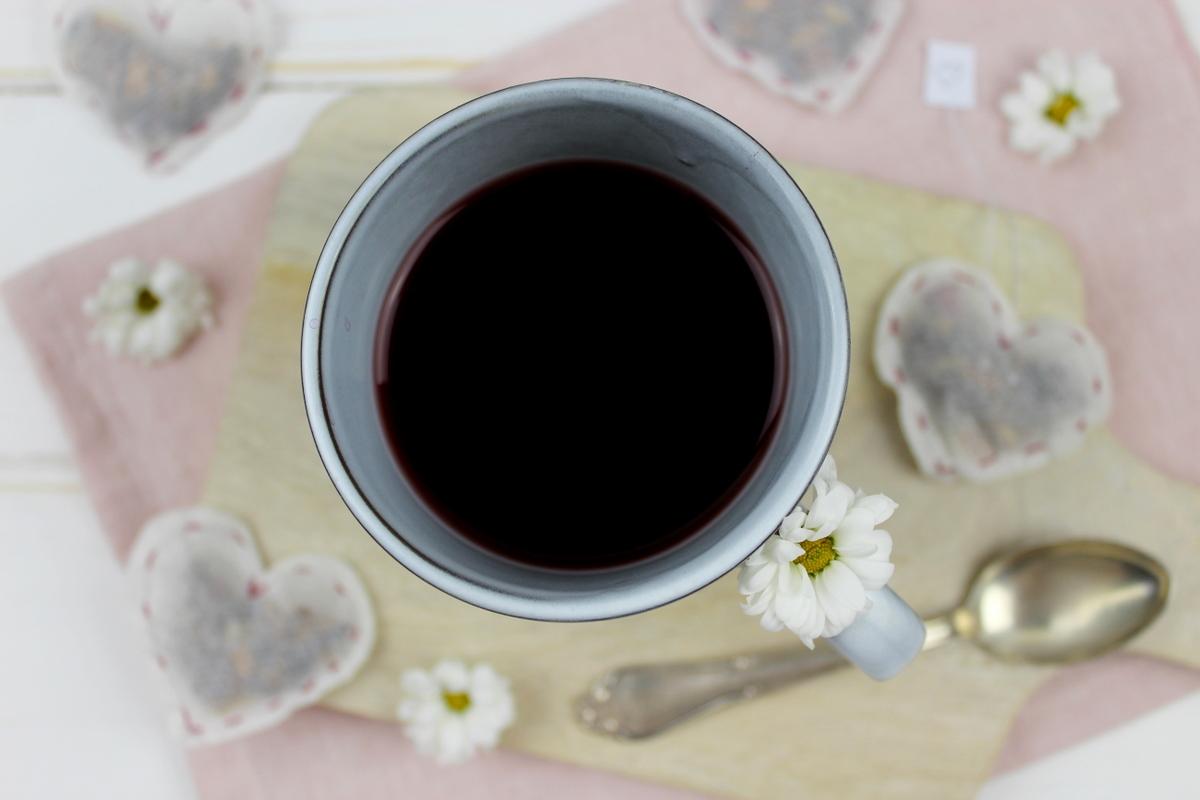 Herz Teebeutel mit Früchtetee einfach selber nähen