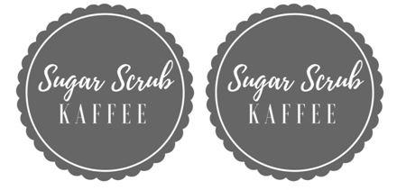 DIY Sugar Scrub mit Kaffee selber machen + Etikett