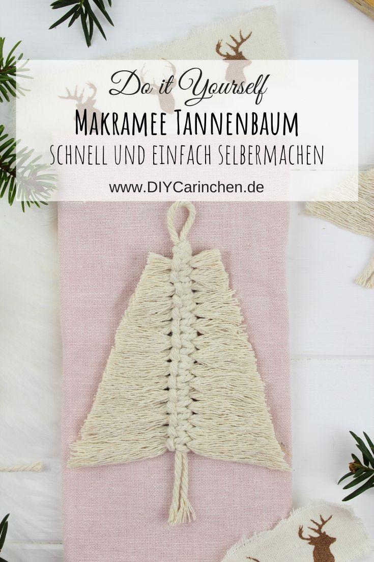 Makramee Tannenbaum in weiß