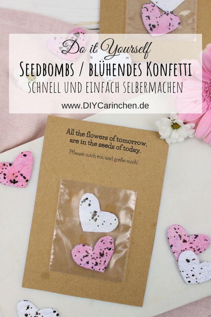 DIY - Seedbombs | Samenbomben | blühendes Konfetti basteln