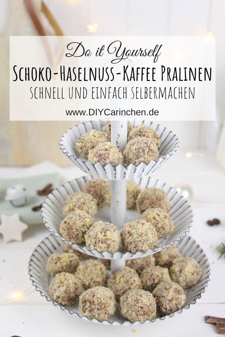 Rezept Schoko-Haselnuss-Kaffee Pralinen