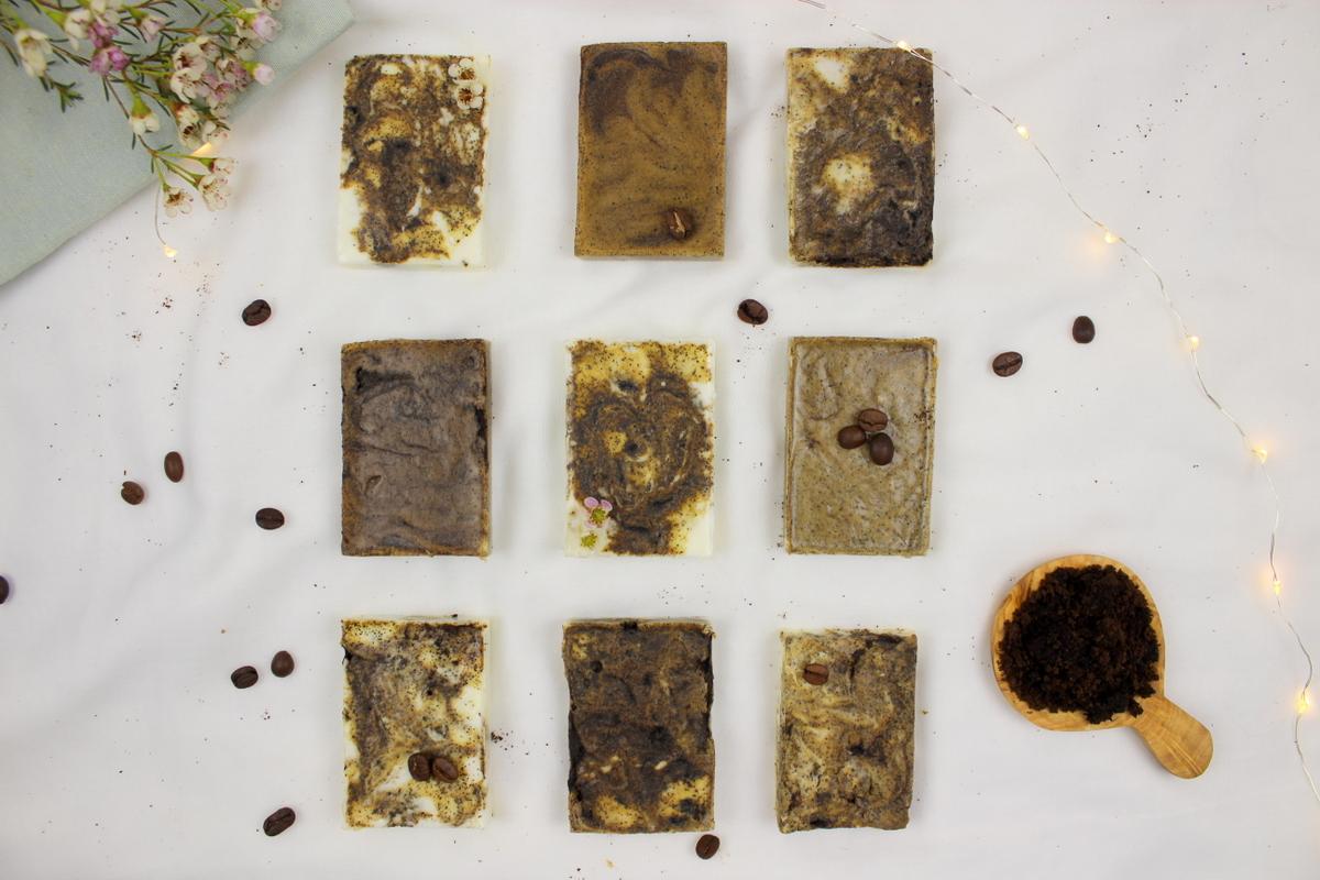 DIY selbstgemachte Kaffeeseife mit Peelingeffekt und Kaffeesatz