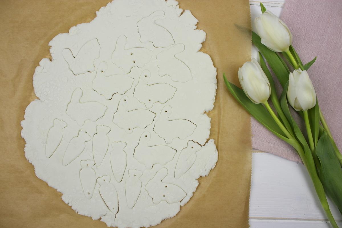 DIY Osterhasen aus Kaltporzellan als Geschenkanhänger Osterdeko