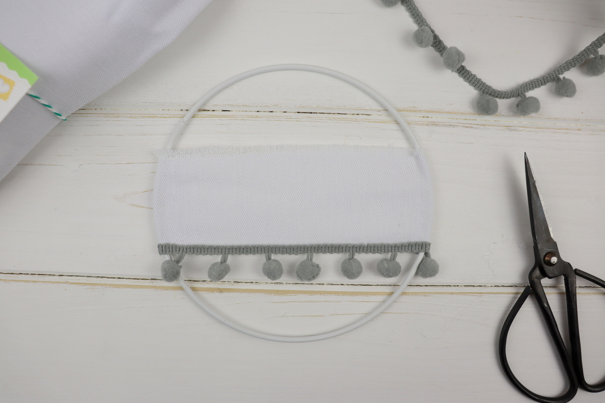 DIY Tüschilder aus Bändern und Drahtringen
