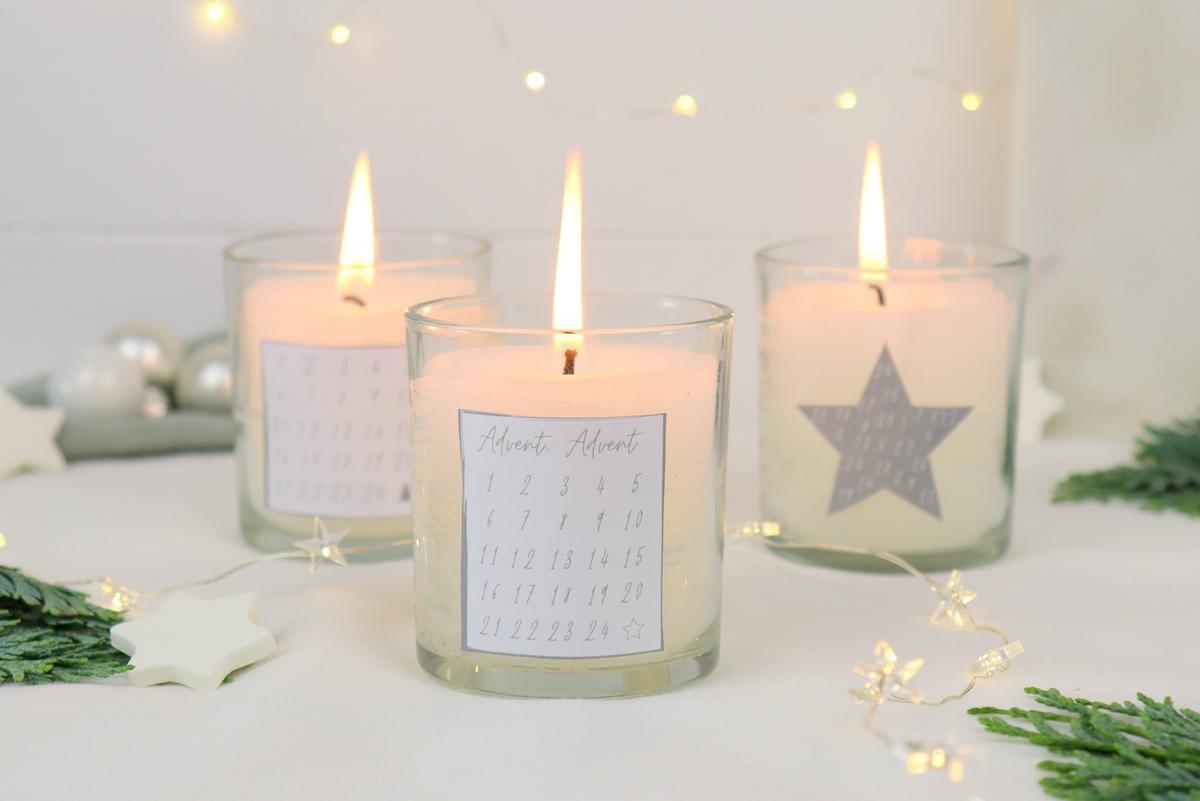 DIY Mini Kerzen Adventskalender selber gießen / machen