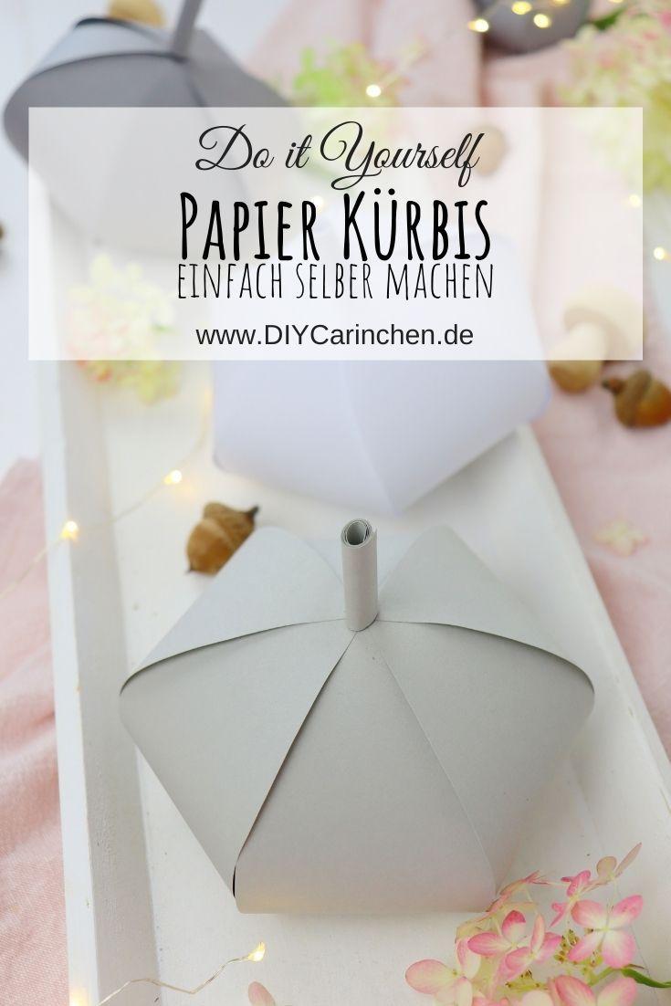 DIY selbstgemachter Kürbis aus Papier / Papier Kürbisse