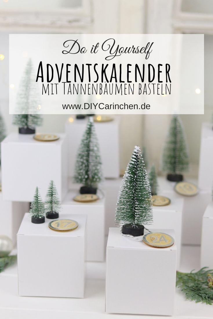 DIY Adventskalender mit Tannenbäumen selber machen