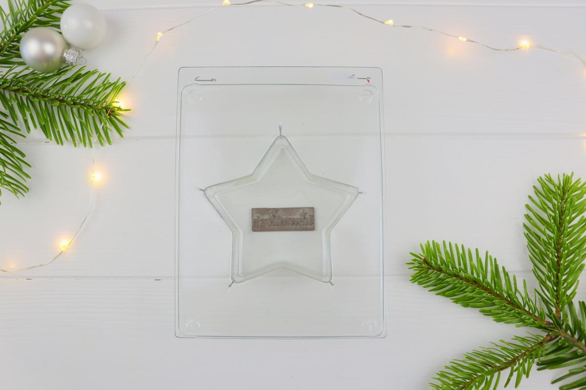 DIY - selbstgemachte Beton Sterne mit Prägung zu Weihnachten