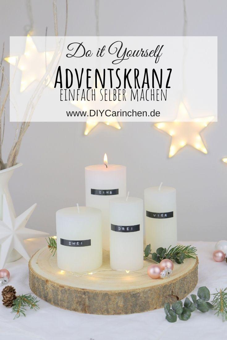 DIY - selbstgemachter minimalistischer Adventskranz