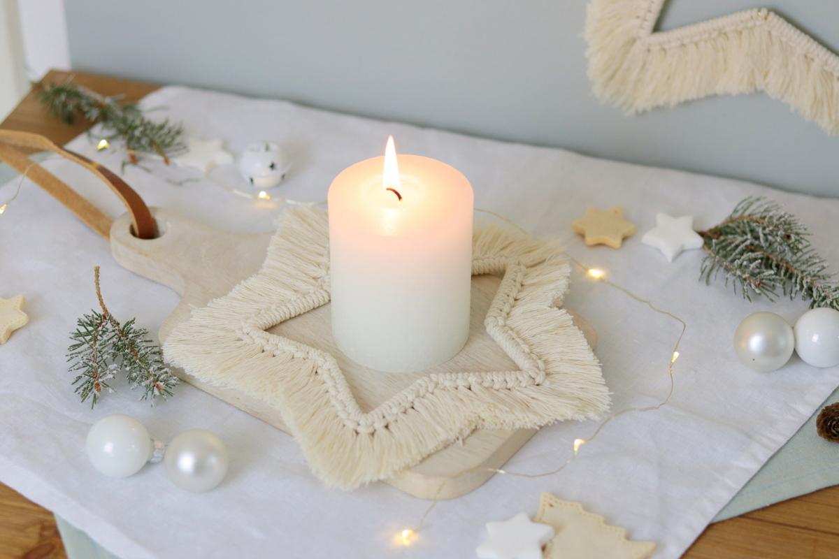 DIY Anleitung Makramee Stern zu Weihnachten knüpfen selber machen