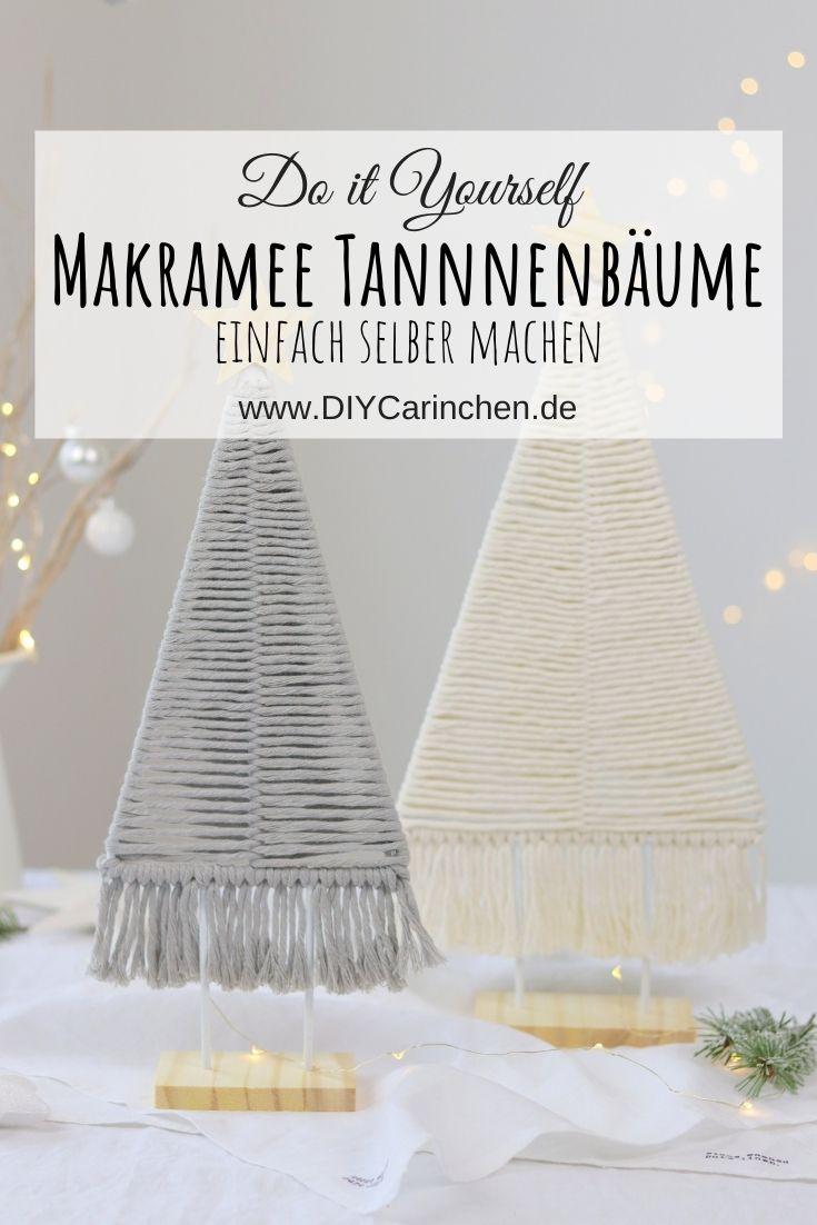 DIY Anleitung: selbstgemachte Makramee Tannenbäume