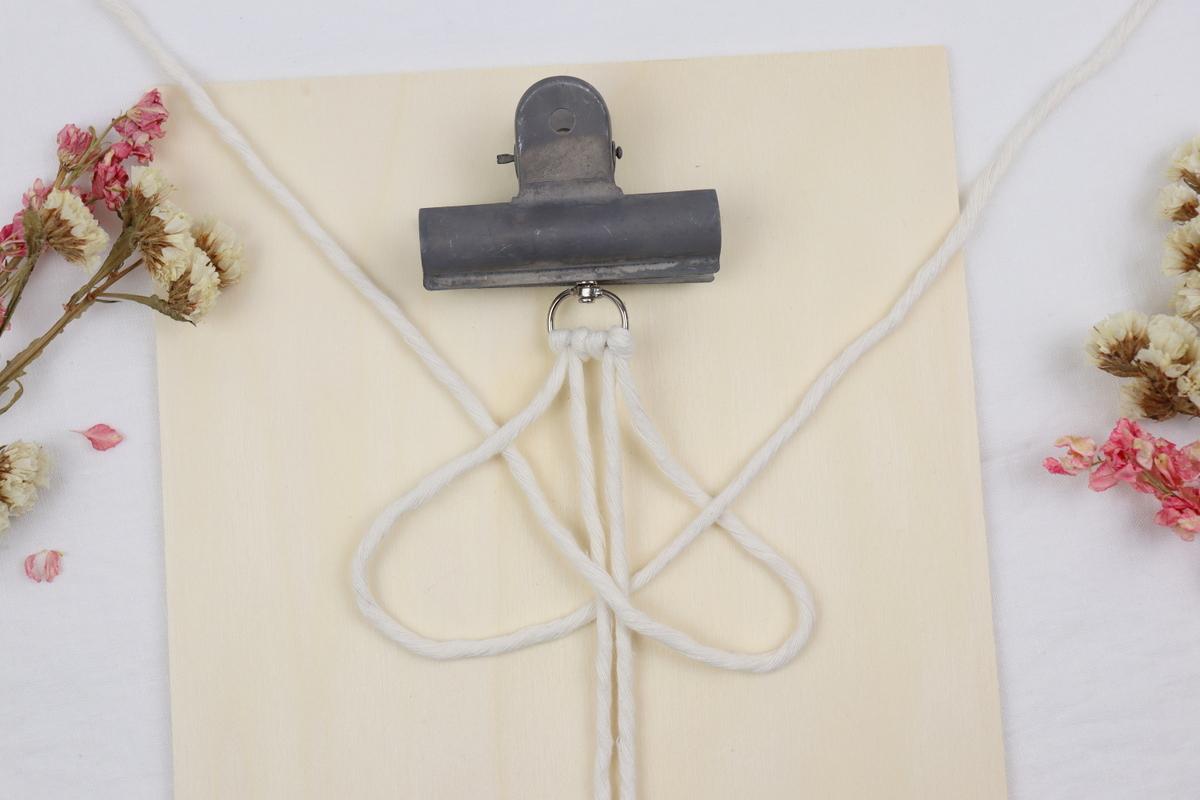 DIY Anleitung Makramee Spiralknoten / Wellenknoten einfach erklärt
