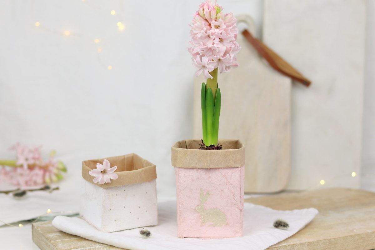 DIY selbstgemachte Upcycling Blumentöpfe aus Milchtüten
