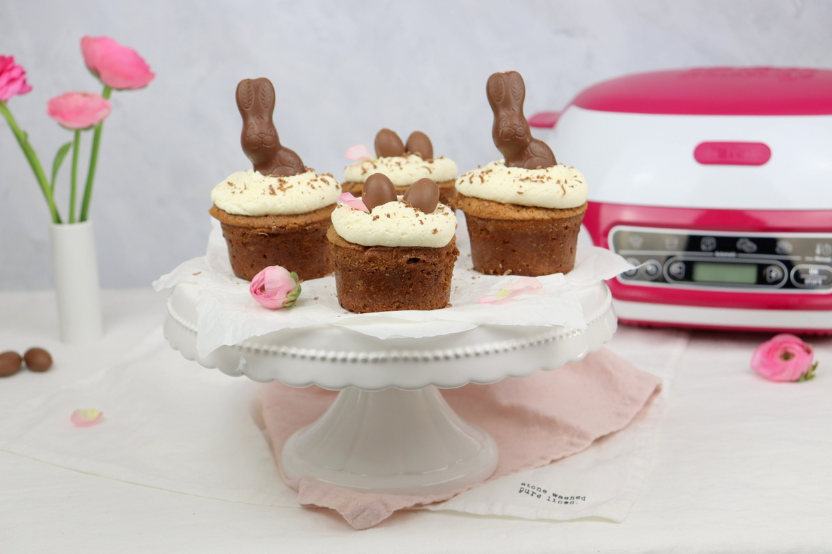 saftige Schoko-Himbeer-Cupcakes mit Sahne-Mascarpone