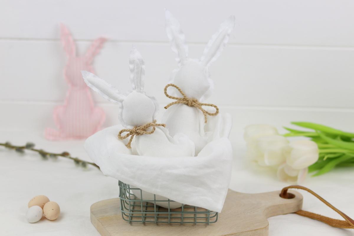 DIY - selbstgenähte Hasen zu Ostern