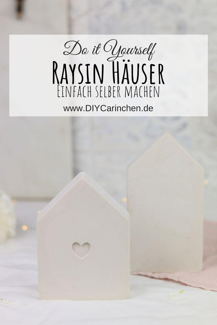 DIY selbstgemachte Häuser aus Raysin