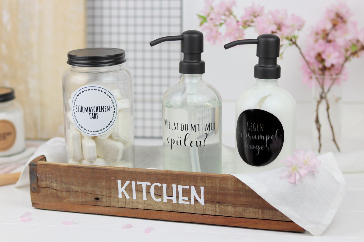 DIY Anleitung 5 Plotterideen + Plotterdateien für mehr Ordnung in der Küche