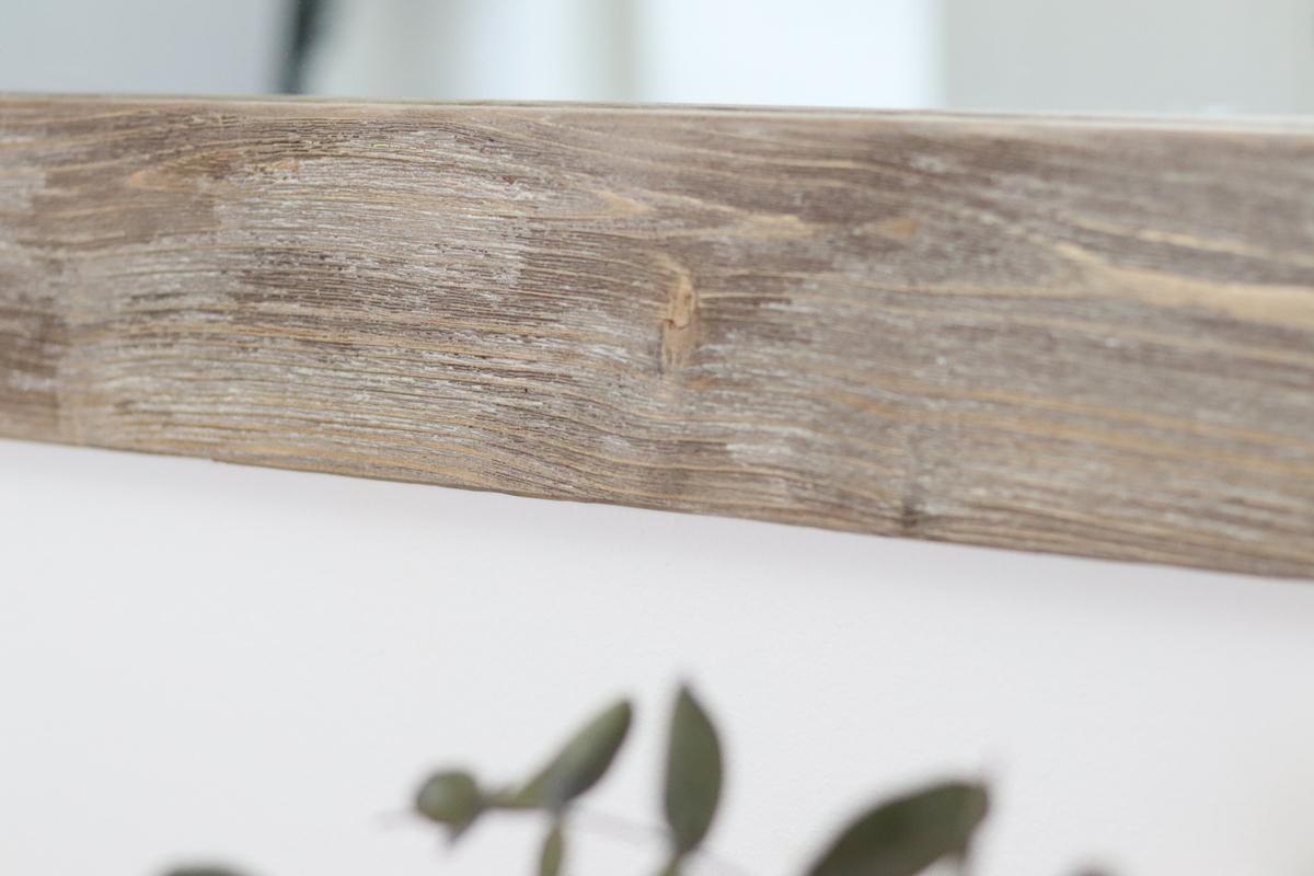 DIY Holz selber altern lassen mit Holz-Struktur-Bürste und Farbe und daraus einen Spiegel bauen