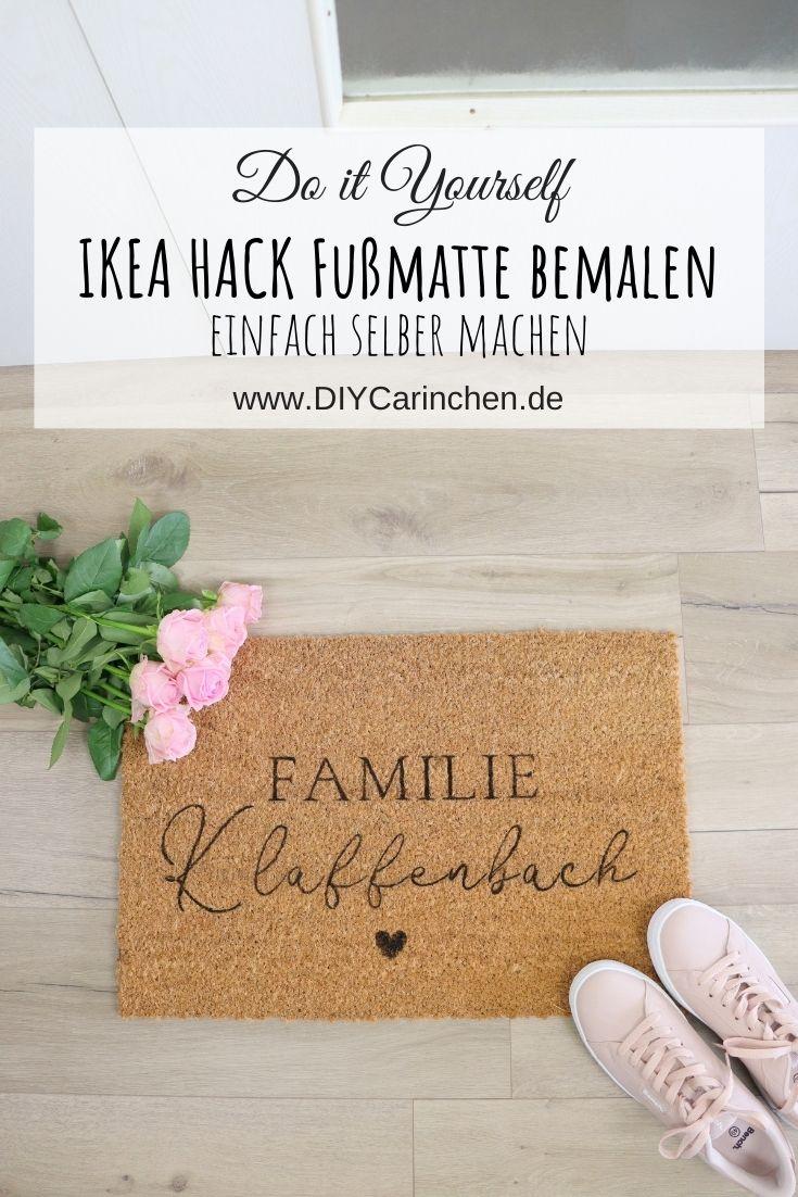 DIY IKEA Hack mit der TRAMPA Fußmatte selbst bemalt und gestaltet