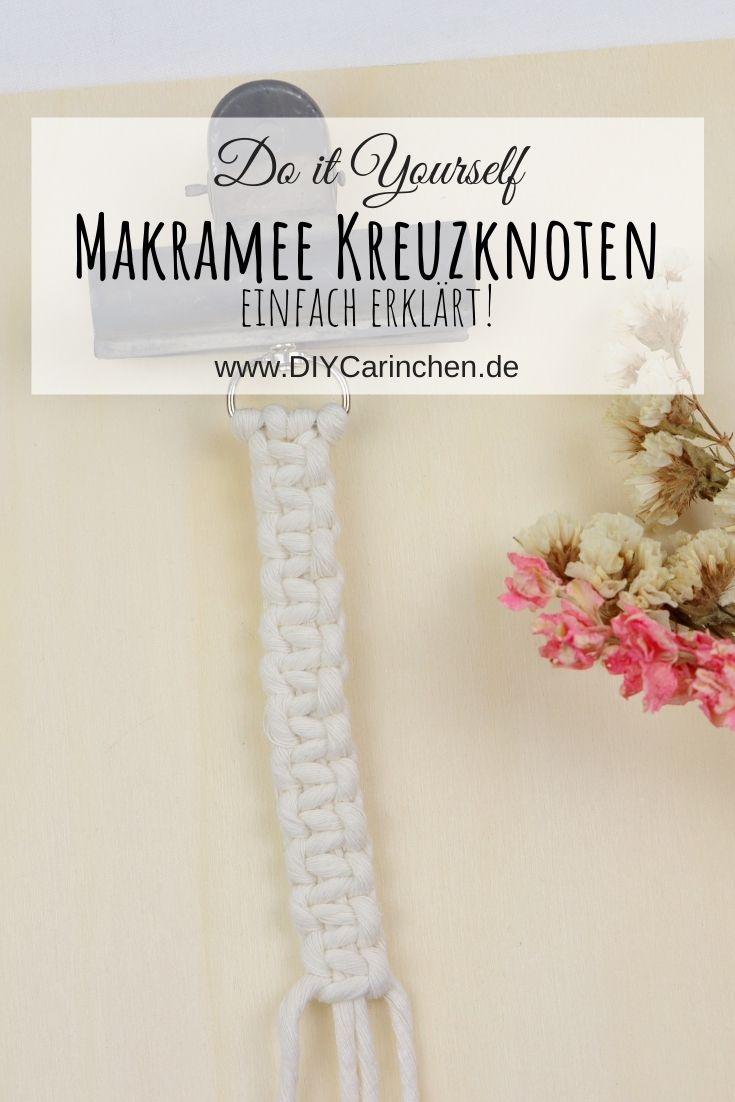 DIY Anleitung Makramee Kreuzknoten einfach erklärt